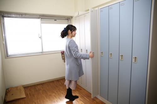 綺麗な女性専用ロッカールーム